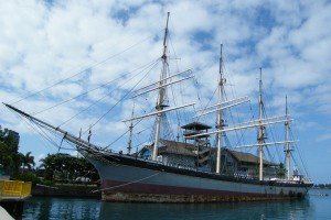 The Falls of Clyde, the last surviving iron-hulled, four-masted, full-rigged ship.